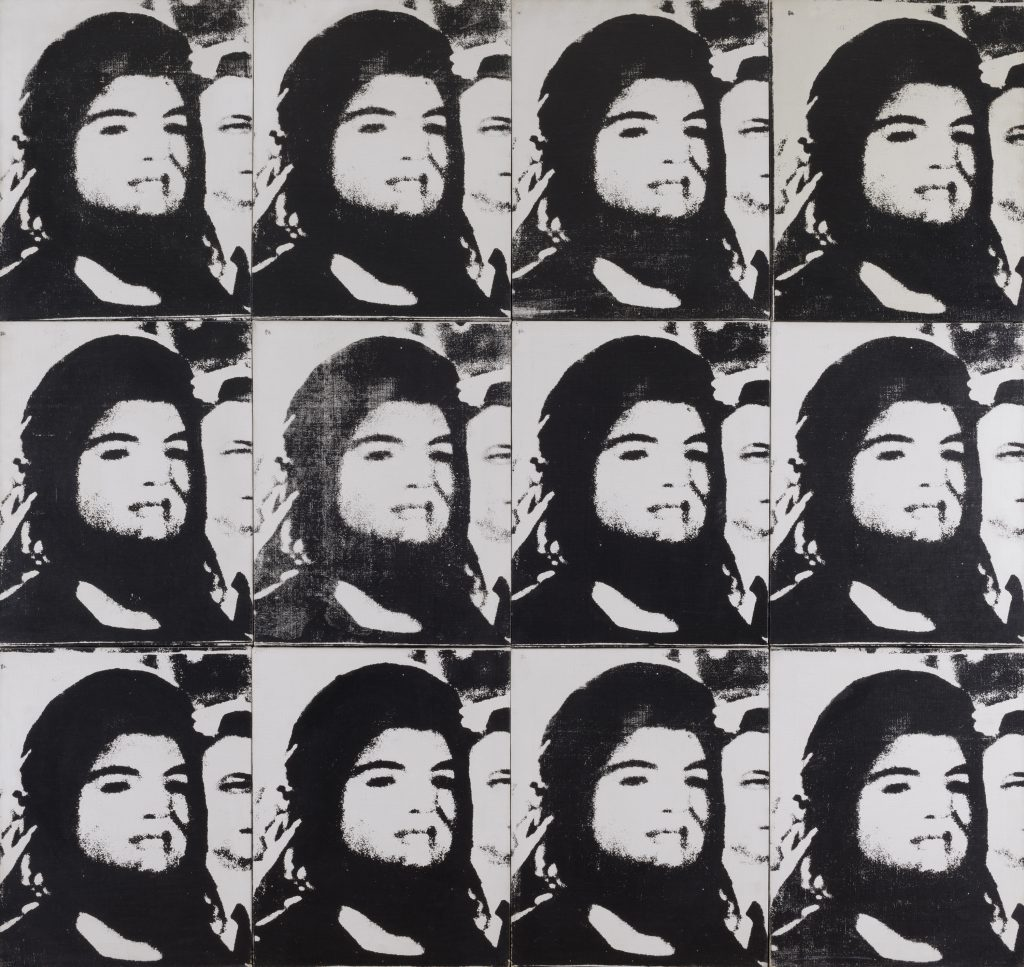 "Andy Warhol. ""Twelve Jackies,"" 1964. © 2015 The Andy Warhol Foundation for the Visual Arts, Inc./Artists Rights Society (ARS), New York."