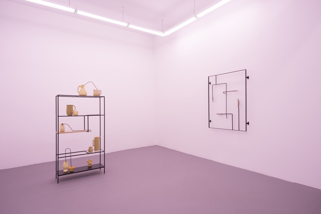 """Alex Chitty. Installation view of """"the sun-drenched neutral that goes with everything"""" at PATRON Gallery, 2016."""