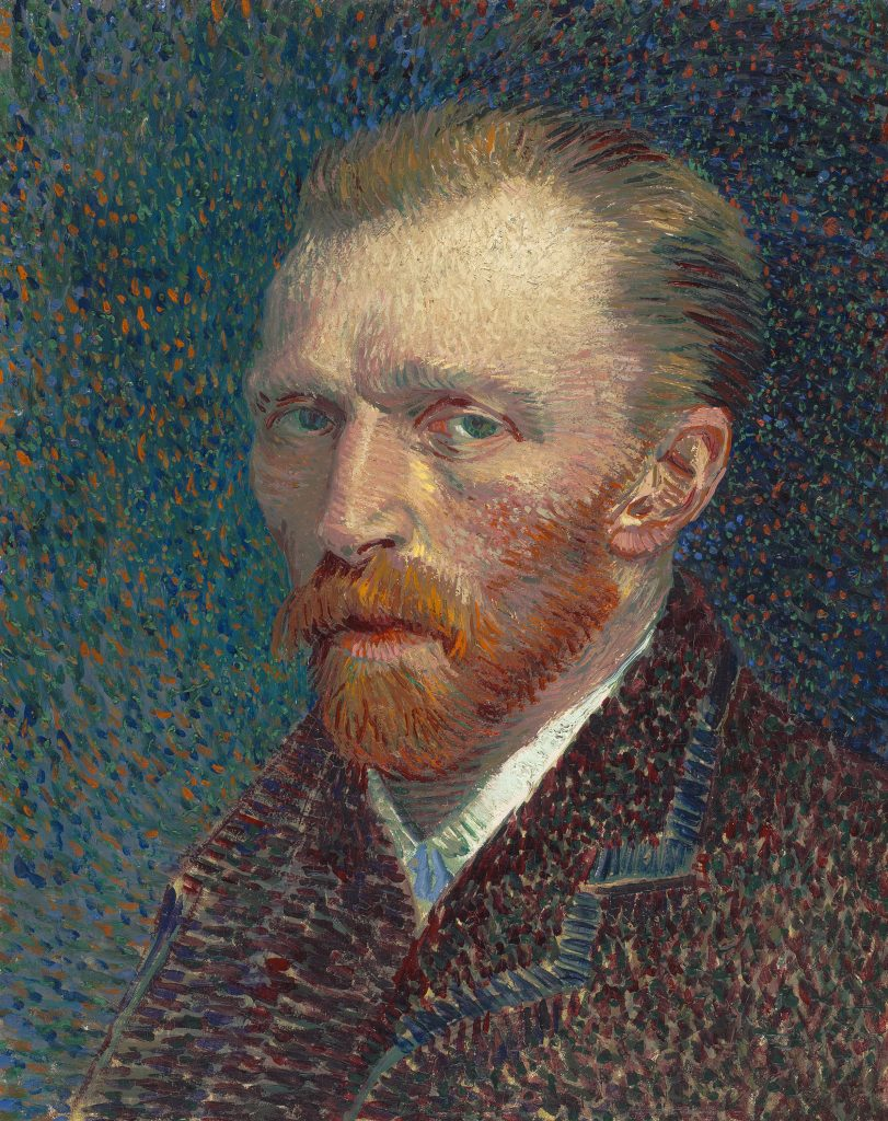 an opinion of the final self portrait of vincent van gogh Painting by vincent van gogh, van-gogh-museum, 1987/8.