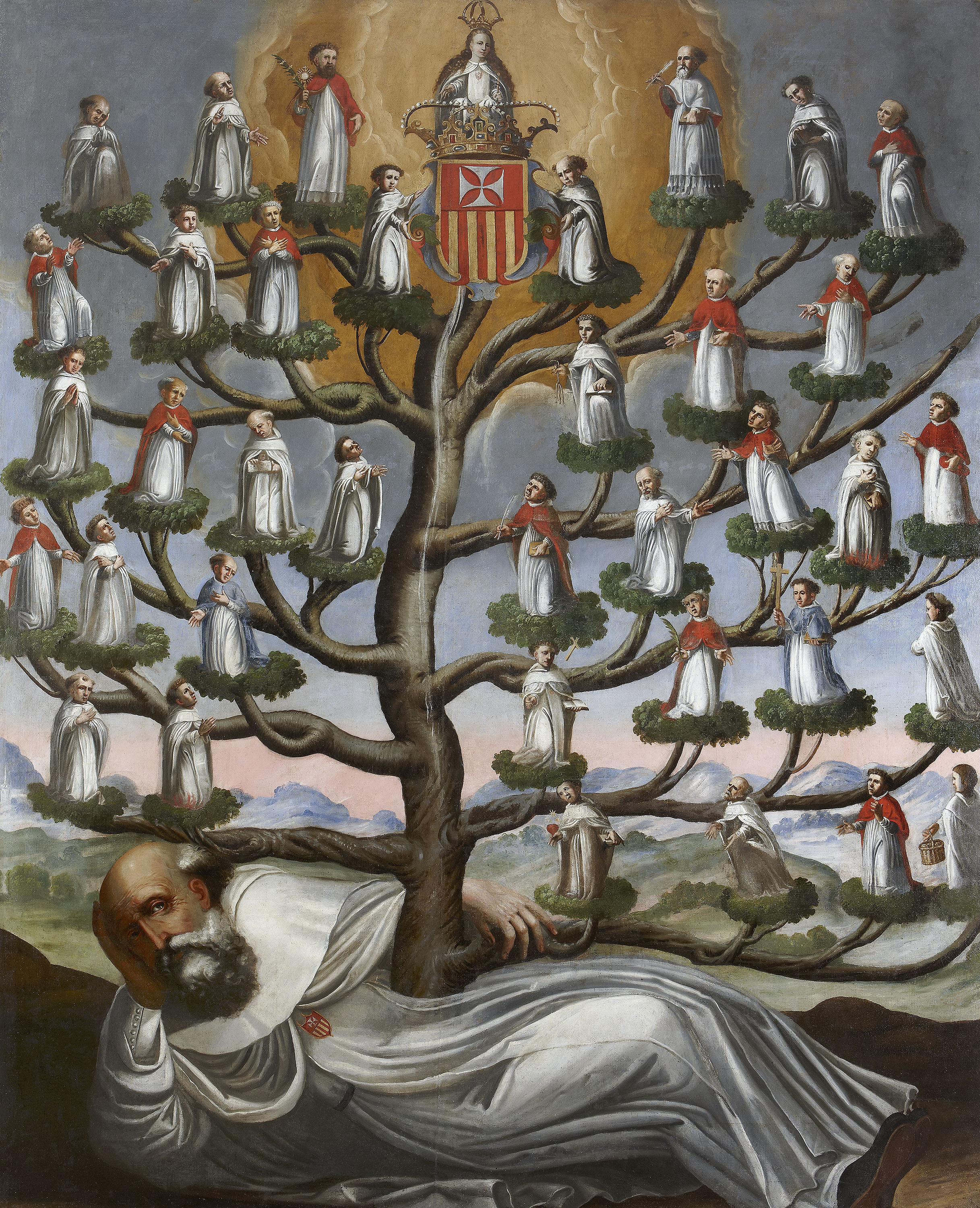 "Unidentified Artist. ""Genealogical Tree of the Mercedarian Order,"" Mid-18th century."