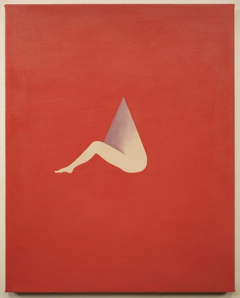"Alice Tippit. ""Needle,"" 2015. Oil on canvas, 24 x 20 inches."