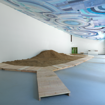 "Karen Reimer, Installation view of ""Shoretime Spaceline"" a the Hyde Park Art Center, Summer 2016"