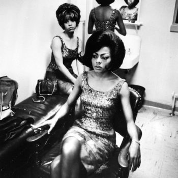 "Art Shay, ""The Supremes Supremely Tired at Motown,"" 1965. Gelatin silver print, 14 x 11 inches"