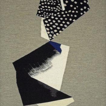 """Lialia Kuchma, """"Indigo Study I,"""" 2016. Wool tapestry, 54 x 33 ½ in."""