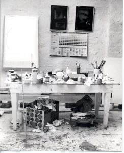 Rufus Zogbaum's studio, c. 1981