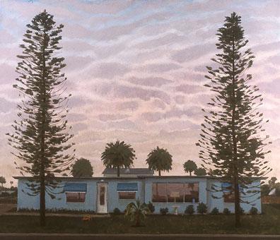 "George C. Clark, ""Winter Afternoon, Cocoa Beach, Florida,"" acrylic on panel"