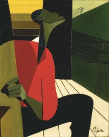 Rose Piper, Slow Down Freight Train, 1946–47, oil on canvas. Ackland Art Museum, University of North Carolina at Chapel Hill. Copyright © Rose Piper, 1946.