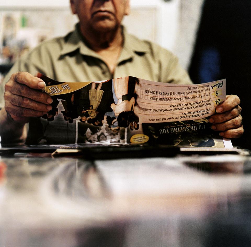 "José A. Velazco, ""At My Grandfather's Kitchen Table."" Inkjet print."