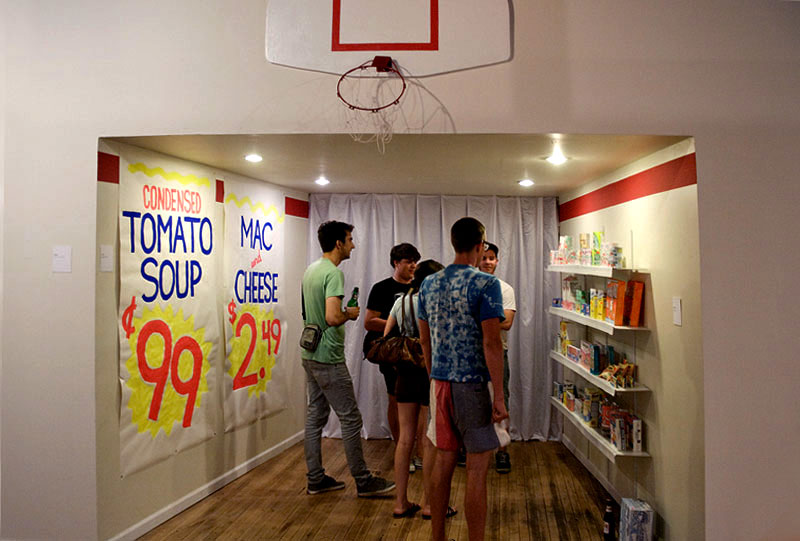 Chad Kouri and Adrianne Goodrich, grocery store installation for Get It Together at the Co-Prosperity Sphere, 2009.