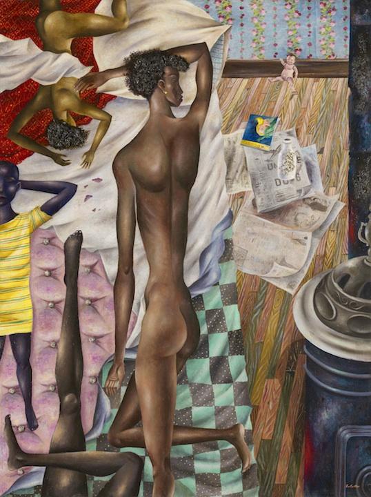 """Eldzier Cortor, """"The Room No. VI,"""" 1948"""
