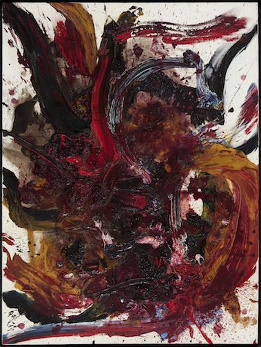 """Kazuo Shiraga, """"Work BB 45,"""" 1962. Private collection, courtesy of Paul van Esch & Partners"""
