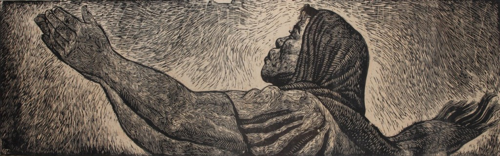 """Charles White, """"Just a Walk with Thee,"""" 1958"""