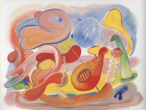 "Linda Kramer, ""Fetus with Guitar and Bubble,"" 2012"