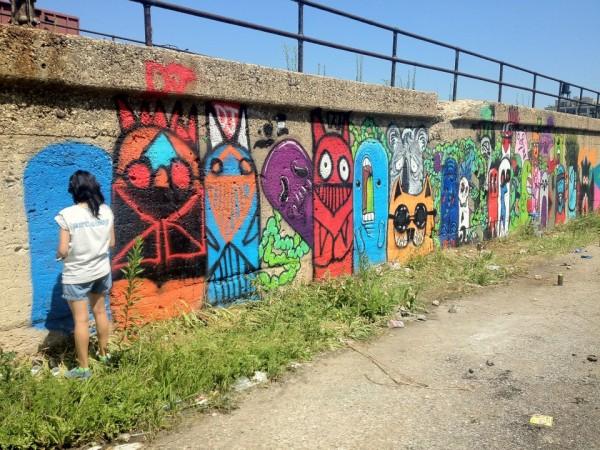 Yollocalli Youth Arts Organization mural, 16th and Laflin