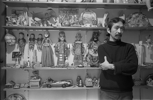 Ray Yoshida with his collection.