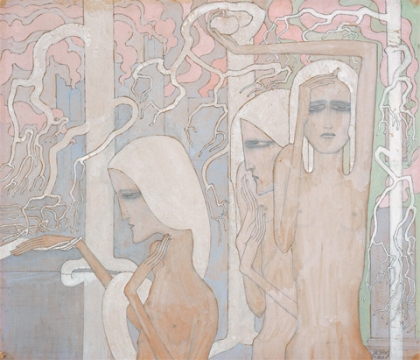 """Jan Toorop, """"A Mysterious Hand Leads to Another Path,"""" 1893. Promised gift of Celia and David Hilliard."""