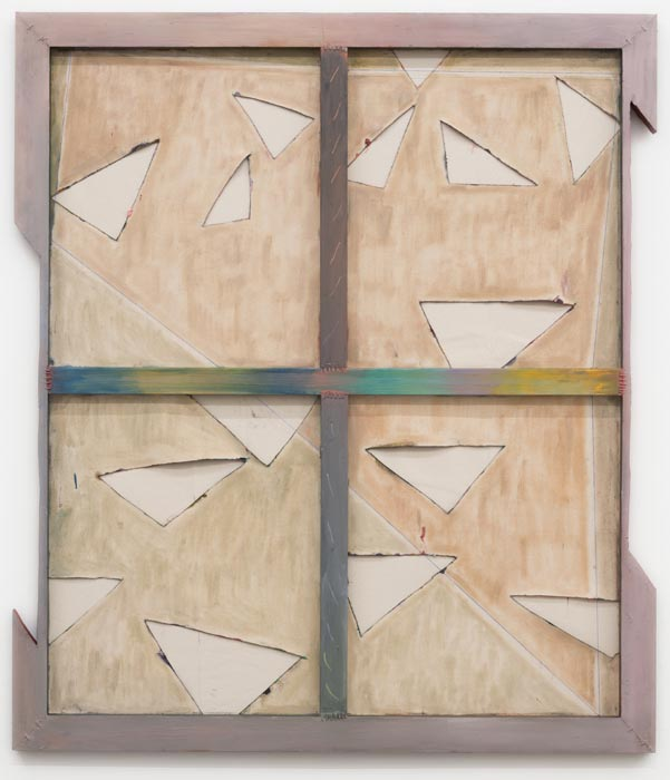 """""""Eight Over Seven (8/7) Discord,"""" oil on cut and collaged canvas, stretcher bars and wire, 2013"""
