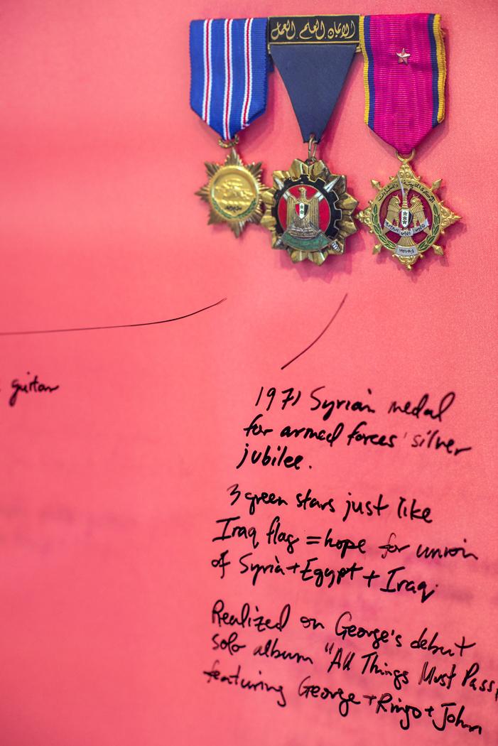 """Ringo (Jordan),"" 2012, vintage satin, medals and lacquer (detail)."