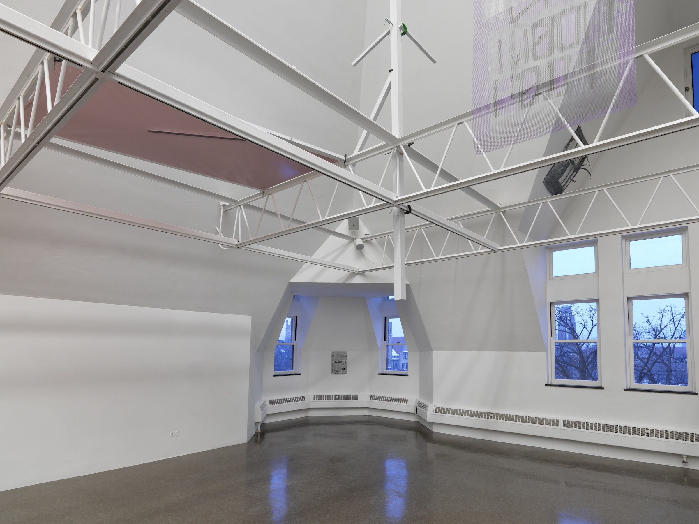 """Installation view, """"parrottree—building for bigger than real,"""" 2014. Photo: Tom Van Eynde"""