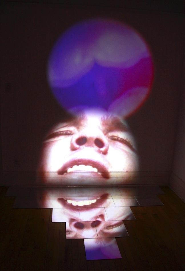 """FANTASY VISION MEDITATION VERSION 2,"" video and mirror tiles, 2009"