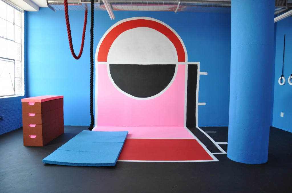 """Physical Education,"" installation view, 2014. Photo by Mat Wilson"