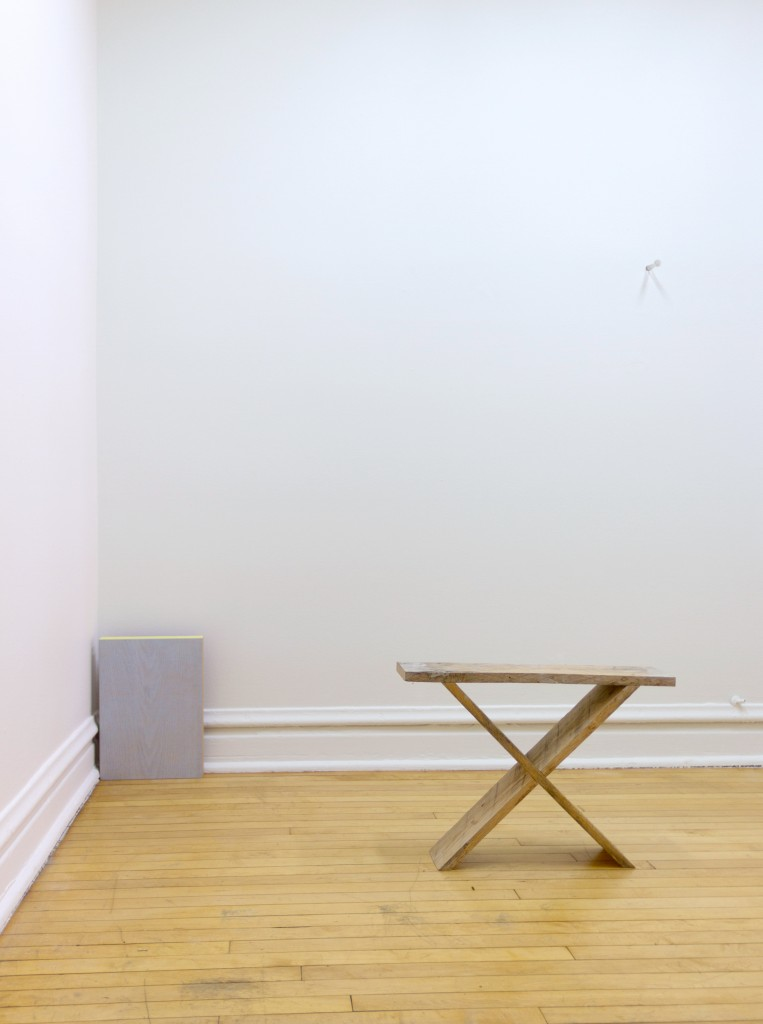 "Gordon Hall. ""MIDDLE DOUBLE,"" installation view"