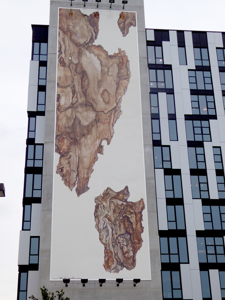 """Antonia Contro's """"Scorza"""" installed on the corner of the 1611 West Division building. Photo by Luke Grimm."""