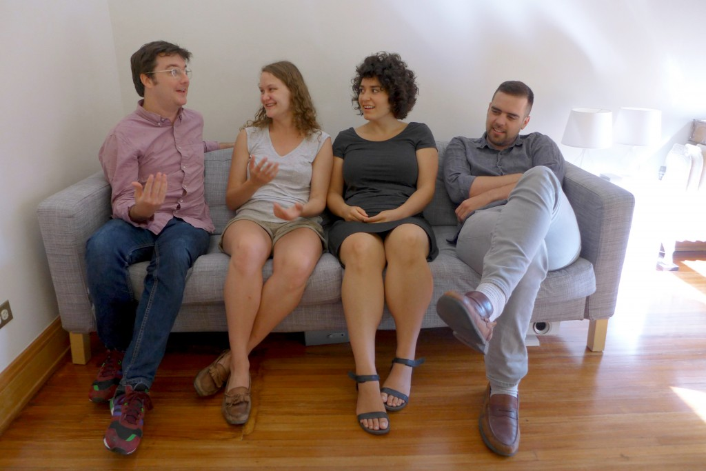 Contemporary Art Daily staff from left to right: Bryce Dwyer, Brook Sinkinson Withrow, Maddie Reyna, Forrest Nash