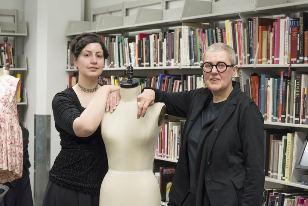The Fashion Resource Center's Assistant Director Caroline Bellios and Director Gillion Carrera