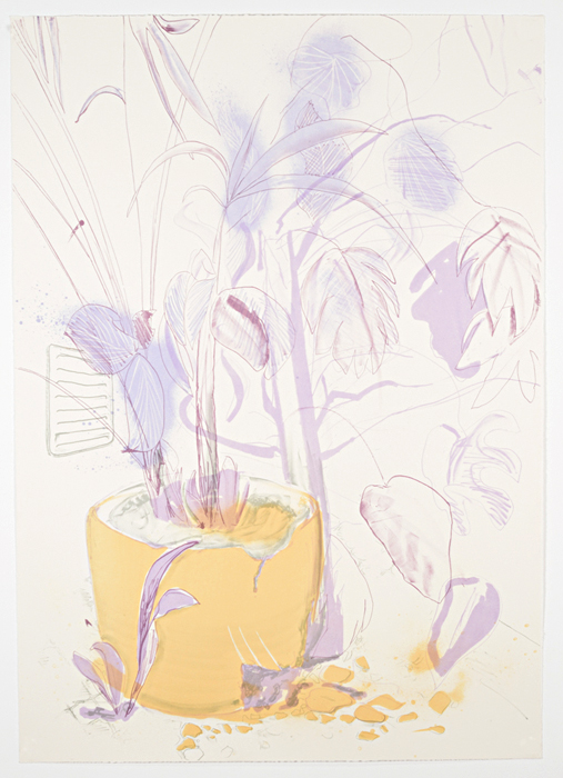 "Valpuri Kylmänen. ""Violent, violet, vent,"" and-inked lithograph, 2014"