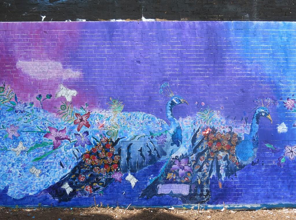 Rachel Slotnick's Logan Square mural in progress