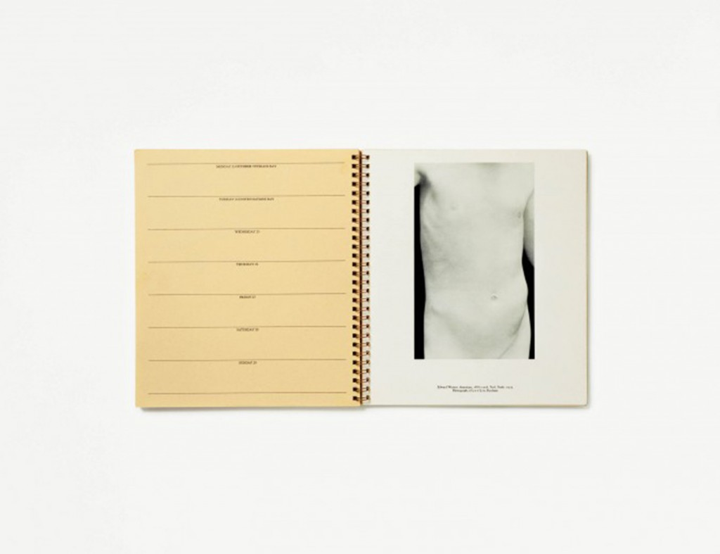 "Anne Collier. ""Veterans Day (Nudes, 1972 Appointment Calendar, The Museum of Modern Art, New York, Edward Weston),"" 2011"