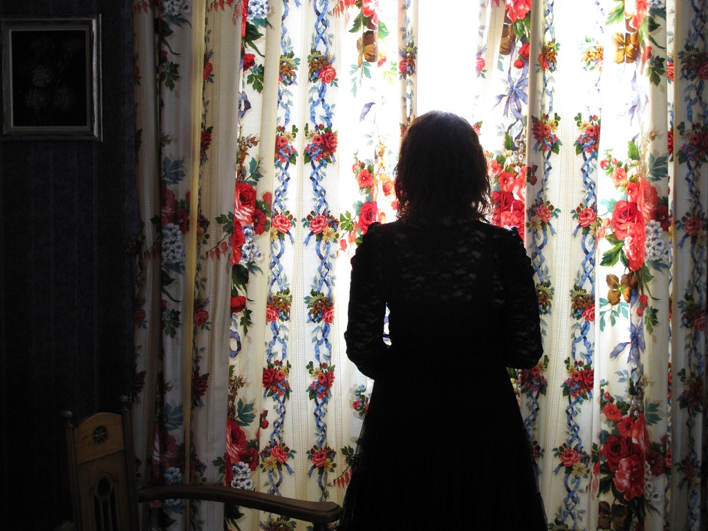 "Sandra Binion. ""At Window,"" 2014,  archival pigment print, 18 x 24 inches"