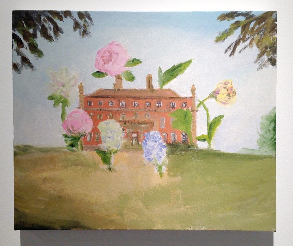 """Karen Kilimnik. """"the summer house,"""" 2011, water soluble oil color on canvas (Barbara Mathes Gallery, Booth #312)"""