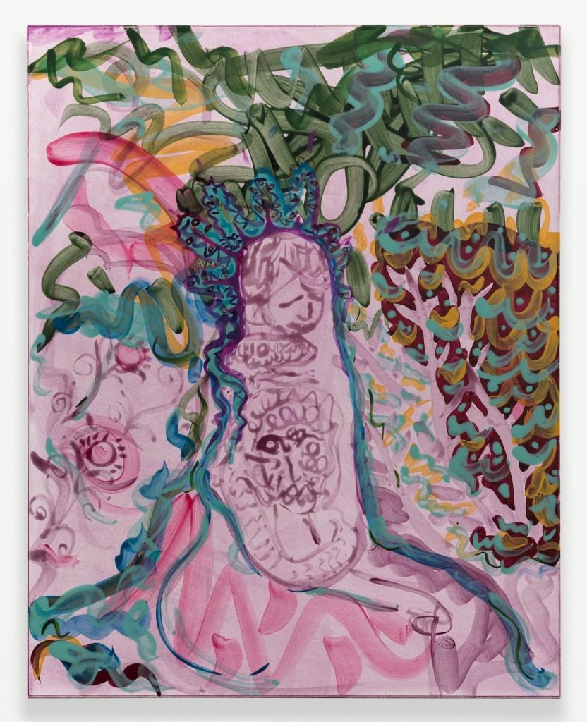 "Nick Schutzenhofer. ""Untitled,"" 2014, egg tempura on paper mounted to canvas, 29 1/8h x 23 1/8w in."
