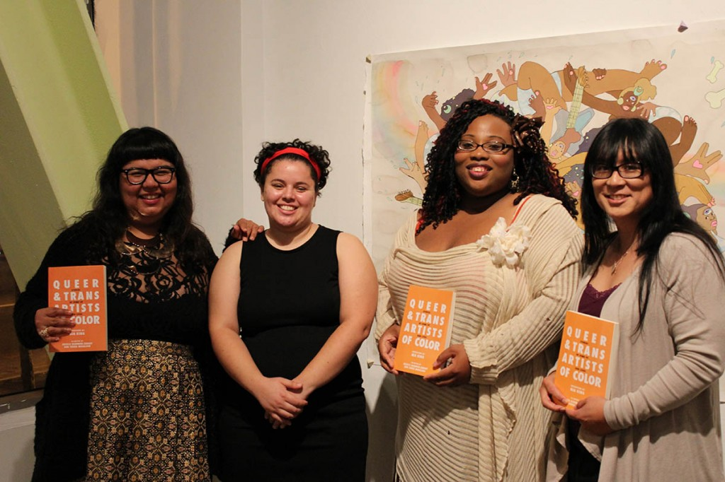 From left to right: Virgie Tovar, Nia King (editor), Magnoliah Black and Ryka Aoki. Photo by Pendarvis Harshaw.