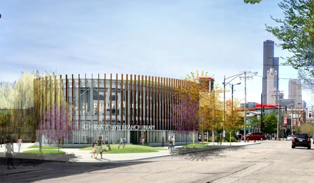 Concept rendering of the planned Chinatown Public Library