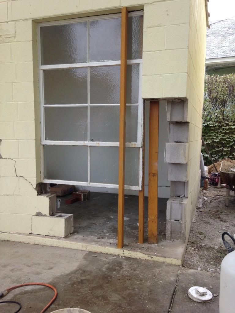 The Suburban mid-repair