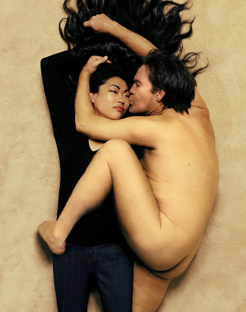 """Sandro Miller. """"Annie Leibovitz / John Lennon and Yoko Ono (1980),"""" 2014"""