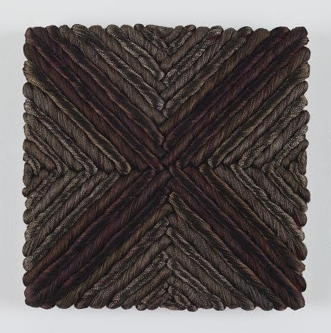 "Sheila Hicks. ""Dervish,"" 2011 steel, linen, wool"