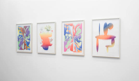 """Installation view of Aron Gent's """"Pure Pictures, Perfect Prints"""" exhibition at Devening Projects + Editions"""