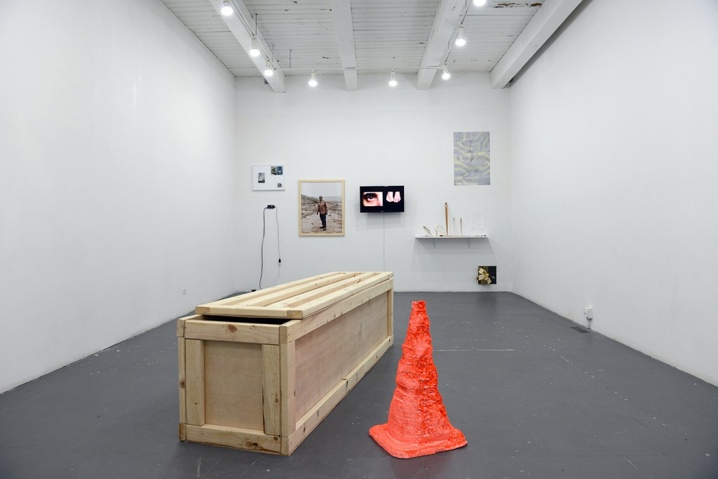 """Installation view of current BOLT exhibition """"PREVIEW4,"""" on display at the Chicago Artists Coalition until December 18. Photo courtesy Erik L. Peterson."""