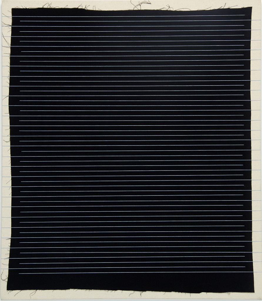 "Michael Milano. ""Horizontals,"" 2014, cotton broadcloth and thread on canvas"