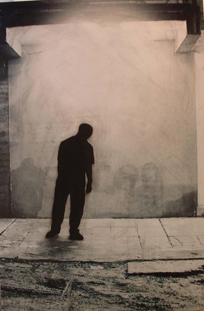 "Juan Paperella. ""Backroom 3,"" hand painted photograph on aluminum, 26"" x 38.5"""