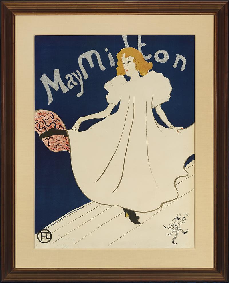 """Henri de Toulouse-Lautrec. """"May Milton,"""" 1895 lithograph, 31 1/4"""" x 24"""""""