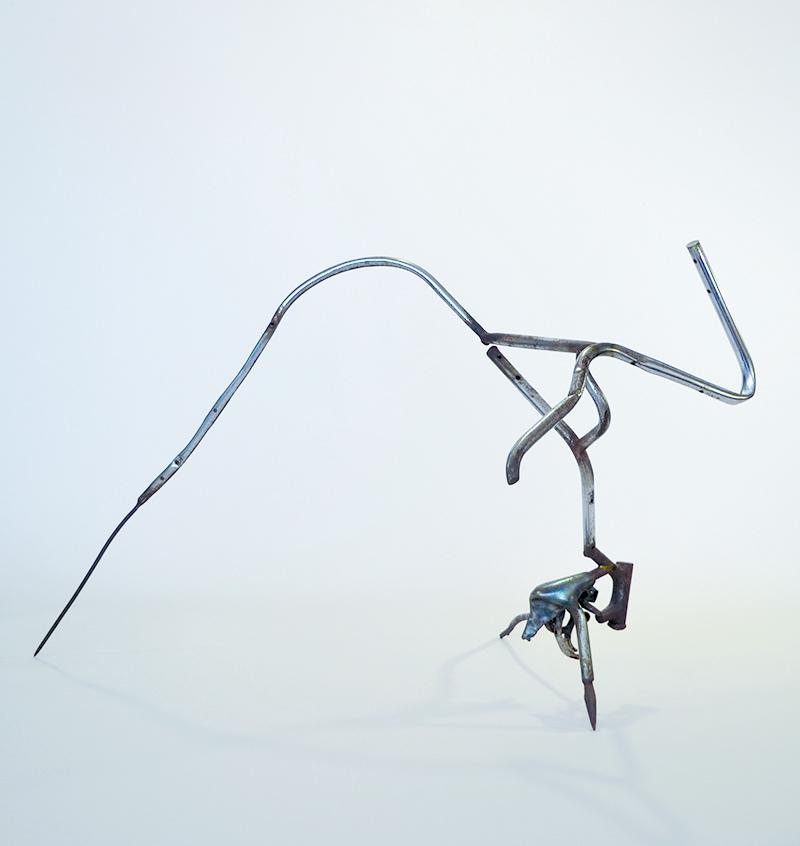 "Richard Hunt. ""Linear Spatial Theme No. 2,"" 1962 welded tubular chromed steel"