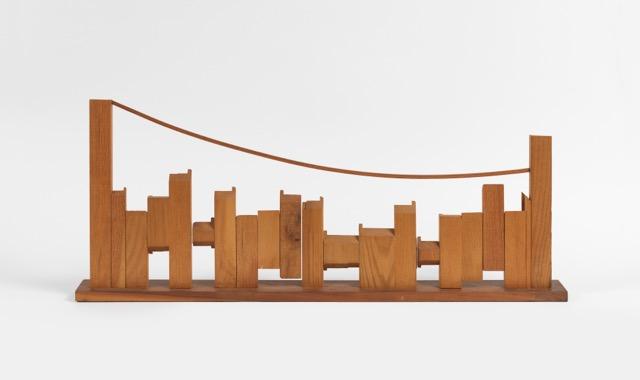"Dorothy Dehner. ""The City to the Bridge,"" 1970 wood"