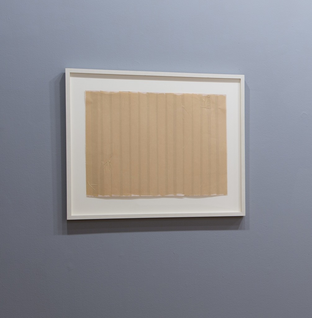 "Jaime Davidovich. ""Taped Stripes,"" 1970 tape on paper, 19"" x 25 1/8"""