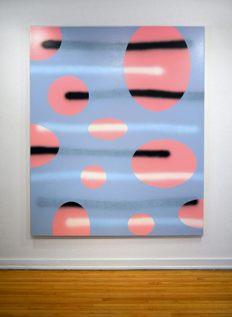 "John Phillips. Untitled, 2014.  acrylic on canvas, 77"" x 64"""