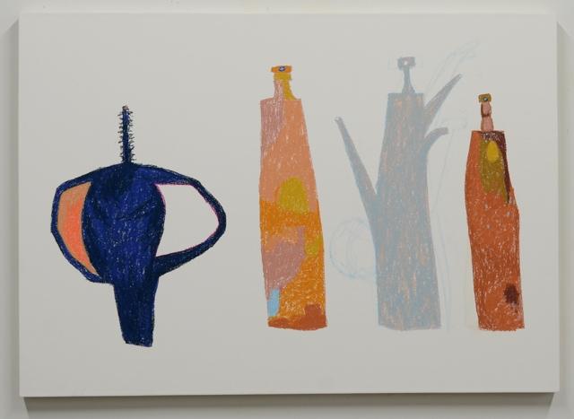 "Ryan Fenchel. ""Edo, Khem,"" 2015 chalk pastel on paper mounted to panel"